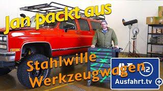 Jan packt aus: Stahlwille 98830112 Werkzeugwagen 95/6 TTS bestückt