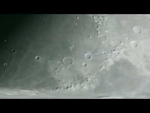 The Moon Live Footage 14 inch telescope April 2018
