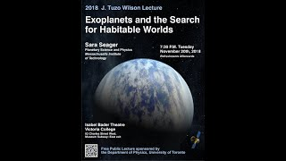 The 2018 J. Tuzo Wilson Lecture: Exoplanets And The Search For Habitable Worlds