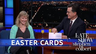 Late Show First Drafts: Easter Cards