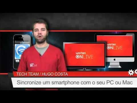 Sincronizar um smartphone com o seu PC ou Mac