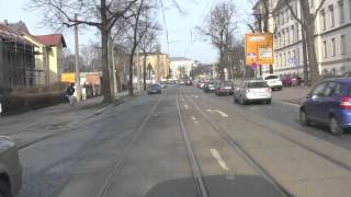 preview picture of video 'Dresden: No. 8 Tram Ride From Hellerau to Südvorstadt, Dresden, Saxony, Germany: 26th February, 2014'