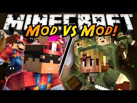 Minecraft Mod VS Mod : MARIO VS ZELDA!