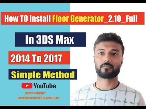 Install Floor Generator and Multi Texture for 3DS Max 2013-2019
