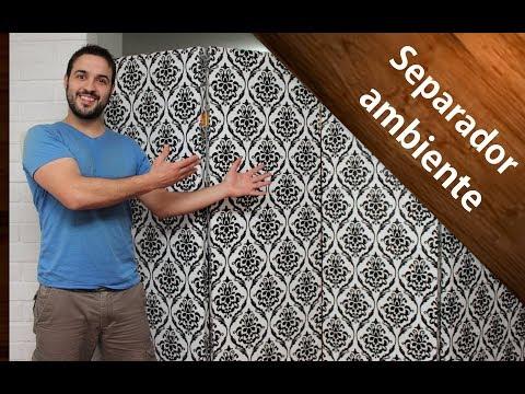 ¿Cómo hacer un separador de ambientes o biombo? Fácil | How to make a room separator? Easy