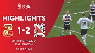 Campbell's Brace Sends The Quakers Through! | Swindon Town 1-2 Darlington | Emirates FA Cup 2020-21