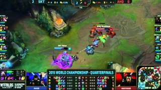 Faker Kassadin vs Westdoor Fizz 1v1 Fight - S5 World Championship