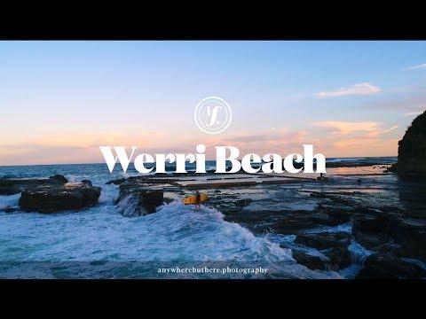 Sunset surf session at Werri Beach