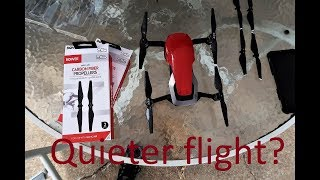 Bower carbon fiber props for the Dji Mavic air. Quieter flight!  Lets find out