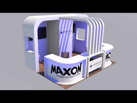 Cinema 4D Tutorial – How to Create an Exhibition Stand