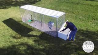 Flat Roof- Insulated Aluminum Cube Dog House
