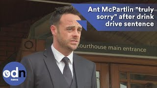 "Ant McPartlin ""truly sorry"" after drink drive sentence"