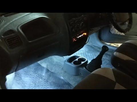 Car Modification part 1, Legs space lights. 😎😎