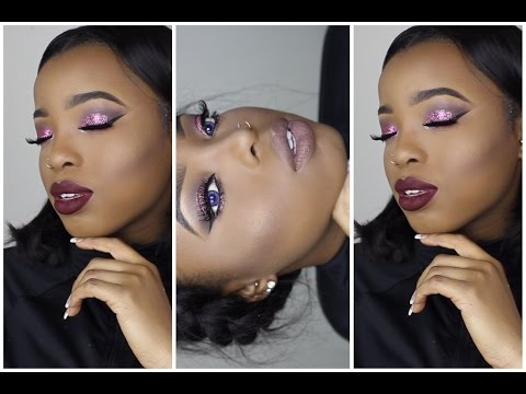NIGHT OUT FULL FACE MAKEUP TUTORIAL W/JANIELLE WRIGHT || HOW TO USE EYESHADOW GLITTER