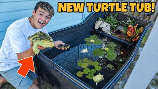 TRANSFERRING ALL My TURTLES into *NEW* 300G BackYard TUB!!