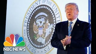 President Donald Trump Gives Speech In Front Of Fake Presidential Seal | NBC News