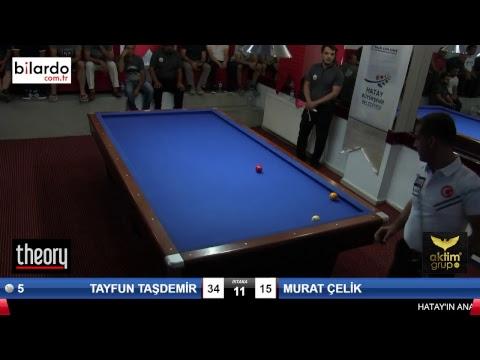 TAYFUN TAŞDEMİR & MURAT ÇELİK Bilardo Maçı - HATAYIN ANVATANA KATILIŞ KUPASI-Yarı Final