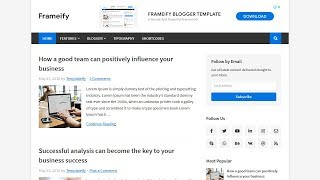How To Install And Setup Frameify Blogger Template