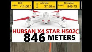 Hubsan X4 H502C 846 METERS RANGE RUN bound to H7000 Camera Test GPS Drone Flight REVIEW