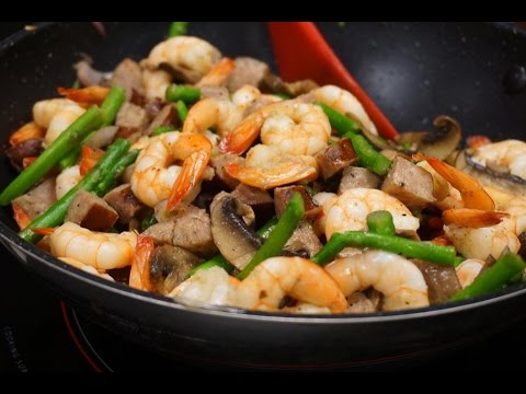 Video Keto Diet Shrimp Stir Fry - low carb recipes - keto lunch ideas - ketogenic - lchf