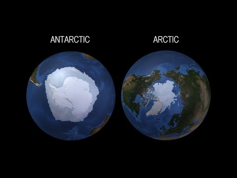 NASA shows how the Arctic and the Antarctic respond in opposite ways to climate change
