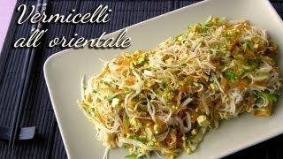 Spaghetti di riso all'orientale (vermicelli di riso)