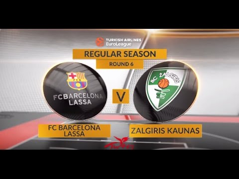 EuroLeague Highlights RS Round 6: FC Barcelona Lassa 92-86 Zalgiris Kaunas