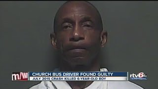 Church bus driver found guilty