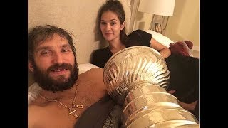 Celebration at Ovechkins house with the Stanley Cup / Овечкин гуляет дома с Кубком Стэнли