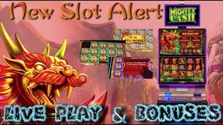 NEW SLOT ALERT! BIG WINS!!! LIVE PLAY and BONUSES on Mighty Cash Slot Machine