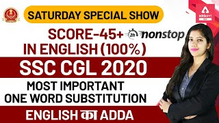 SSC CGL 2020 | SSC CGL English Preparation | Most Important One Word Substitution