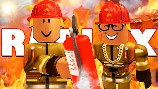 BECOMING FIREFIGHTERS IN ROBLOX