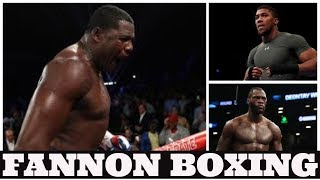 """ANTHONY JOSHUA GETS """"BOXING LESSON"""" FROM LUIS ORTIZ SAYS CHRIS BYRD   REMINDS HIM OF JAMEEL MCLINE?"""