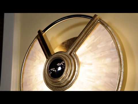Video for Venturi Gold Leaf with Polished Stainless Accents 14-Inch LED Wall Sconce