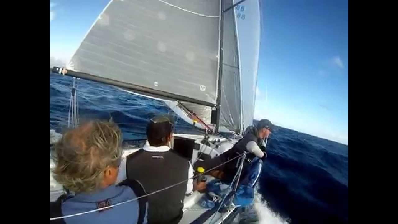 """J88 """"Blue Flash"""" in the Rum Runner Regatta"""