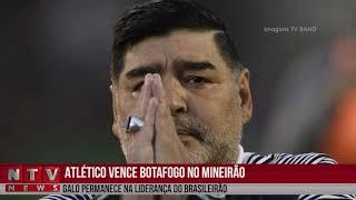 Atlético vence Botafogo e faz homenagens a Diego Maradona