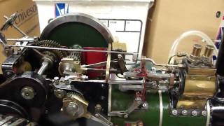 Steam Traction Engine model test on air