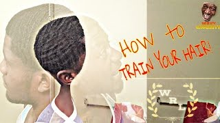 HOW TO GET 360+360WAVES! TRAIN YOUR HAIR!