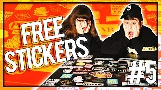 UNBOXING FREE STICKERS #5 (w/ Links)
