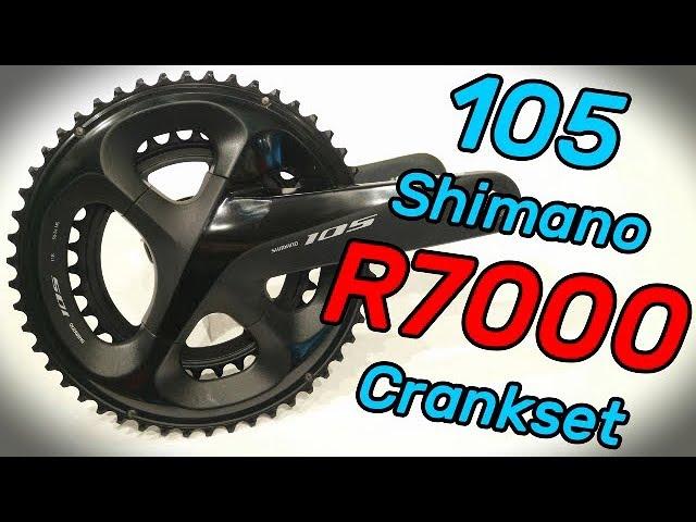 Видео Шатуны Shimano FC-R7000 105 50Х34 172.5 мм черные