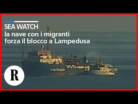 Sea Watch, nel porto di Lampedusa si attende il possibile arrivo della nave - live fonte : R -  La Repubblica