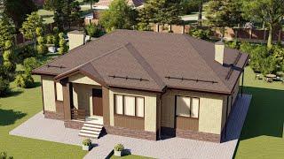 Проект дома 125-F, Площадь дома: 125 м2, Размер дома:  14,2x11,4 м