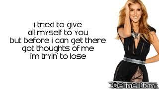 Celine Dion   Imperfections (Lyrics)