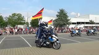 Polizei Hessen Motorrad  (Krad-) Staffel Vorführung in Langen mit Verfolgungsjagd