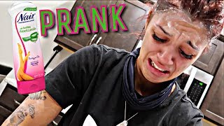 """EYEBROW REMOVAL PRANK"" ON WIFE GETS VERY EMOTIONAL!! (SHE CRIED)"