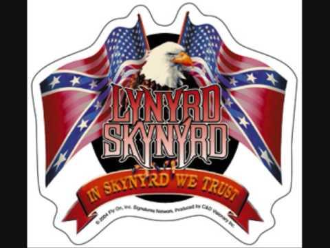 Lynard Skynard - Red, White And Blue (with lyrics)