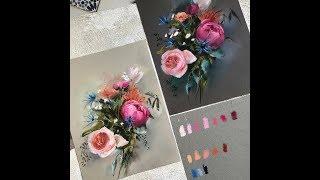 Смотреть онлайн Как нарисовать красивую розу пастелью