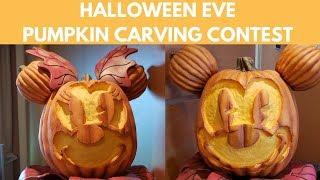 Disney Halloween Pumpkin Carving Contest