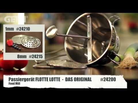 GEFU 24200 Food mill FLOTTE LOTTE, 2 exch. discs