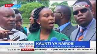Shughuli za kuzindua magari ya kutekeleza usafi mjini Nairobi